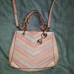 MICHAEL KORS cynthia chevron pattern bag